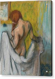 Woman With A Towel. Acrylic Print
