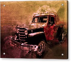 51 Willys Jeep 4x4 Pickup Ridge Running Before Dark Acrylic Print