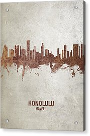 Honolulu Hawaii Skyline Acrylic Print
