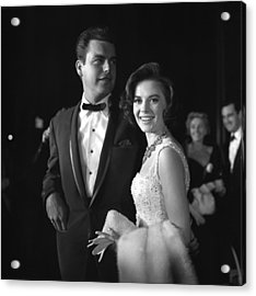 Natalie Wood And Robert Wagner Acrylic Print by Michael Ochs Archives