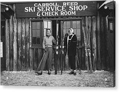New England Skiing Acrylic Print by Slim Aarons