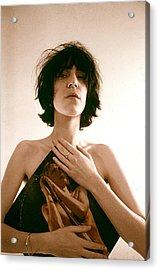 Patti Smith Portrait Session Acrylic Print by Michael Ochs Archives