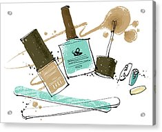 Cosmetics Acrylic Print by Eastnine Inc.