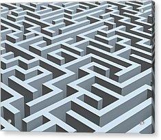 Maze, Artwork Acrylic Print by Pasieka