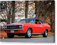 70 Dodge Challenger Rt - Driver Side Acrylic Print