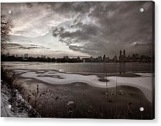 Sunset And Early Evening Nyc Acrylic Print