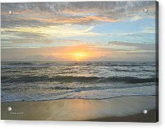 Acrylic Print featuring the photograph 9/17/18 Obx Sunrise  by Barbara Ann Bell