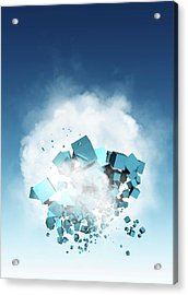 Cloud Computing, Conceptual Artwork Acrylic Print by Victor Habbick Visions
