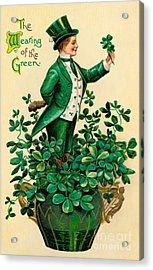 A 1910 Vintage St. Patricks Day Acrylic Print