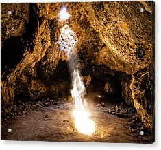 A Beam Of Light Into The Caves Acrylic Print by Nazeem Sheik
