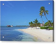 A Beautiful Scene Of A Beach Resort On Acrylic Print by Hendrikdb