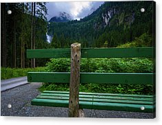 A Bench In The Woods Acrylic Print