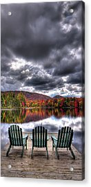 Acrylic Print featuring the photograph A Fall Day On West Lake by David Patterson