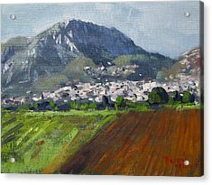 A Greek Village Acrylic Print