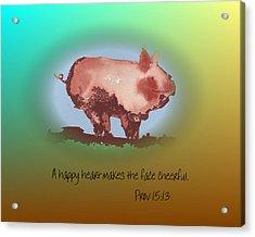 A Happy Heart Acrylic Print