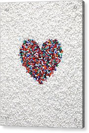A Heart Shaped By Pills Acrylic Print by Dwight Eschliman