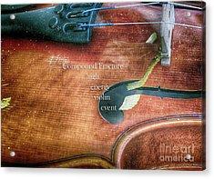 A High Engery Violin Event  Acrylic Print by Steven Digman