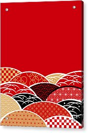 A Japanese Style Background Of Japan Acrylic Print by Rie Sakae