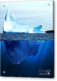 A Large Iceberg In The Cold Blue Cold Acrylic Print