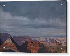 A Little Rain Over The Canyon Acrylic Print