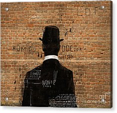 A Man In A Hat Who Turned His Back On Us Acrylic Print