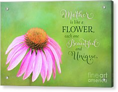 A Mother Is Lke A Flower Acrylic Print