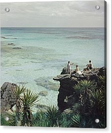 A Nice Spot For Lunch Acrylic Print by Slim Aarons