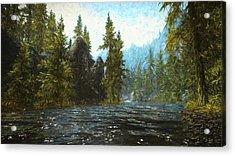 A River Flows Thru It Acrylic Print
