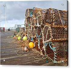 A Selection Of Lobster Pots On The Acrylic Print