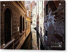 A Shadow In The Venetian Noon Narrow Canal Acrylic Print