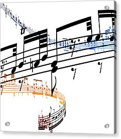 A Stave Of Music Acrylic Print by Ian Mckinnell