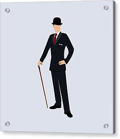 A Stereotypical British Gentleman Acrylic Print