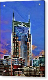 A T And T Building A K A The  Batman Building # 3 - Nashville  Acrylic Print