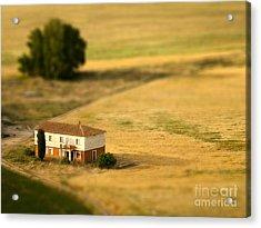 A Tilt Shifted Country House On A Acrylic Print