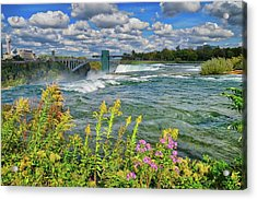 Acrylic Print featuring the photograph A Touch Of Summer In Fall At Niagara Falls, New York by Lynn Bauer