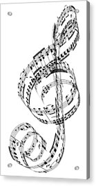 A Treble Clef Made From Beethovens Acrylic Print by Ian Mckinnell