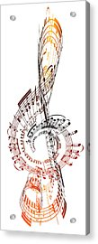 A Treble Clef Made From Sheet Music Acrylic Print by Ian Mckinnell