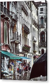 A Typical Venetian Day Acrylic Print