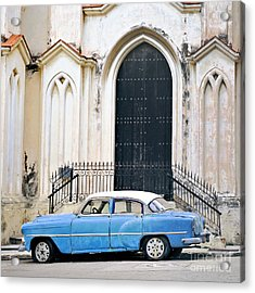 A View Of Classic American Old Car Acrylic Print by Roxana Gonzalez