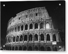 A View Of The Ruins Of The Colosseum In Acrylic Print