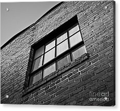 Acrylic Print featuring the photograph A Winston Window by Patrick M Lynch
