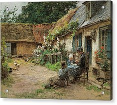 A Yard In Normandy Acrylic Print