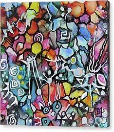 A Zentangle Dance Acrylic Print