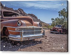Abandoned Cars In The Desert Acrylic Print