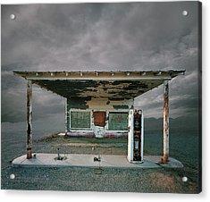 Abandoned Gas Station, Niland Ca Acrylic Print