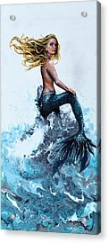 Above A Stormy Sea Acrylic Print