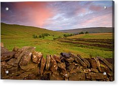 Above Kettlewell After Sunset Acrylic Print by Pixelda Picture License