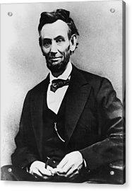 Abraham Lincoln Portrait Acrylic Print by Alexander Gardner