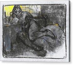 Absinth, Study Of A Woman - Digital Remastered Edition Acrylic Print