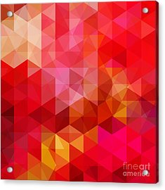 Abstract Background Consisting Of Red Acrylic Print